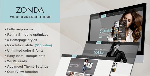 Zonda - Ultimate Responsive Woocommerce Theme