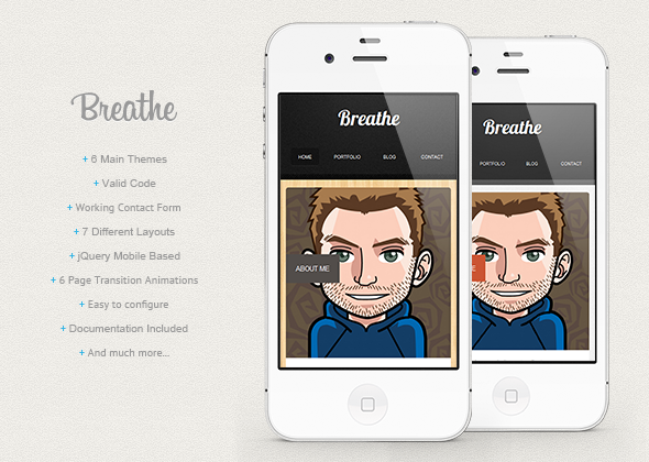 breathe-html5-jquery-mobile-based-template