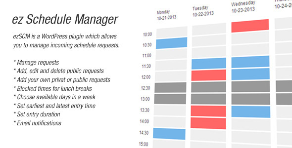 ez Schedule Manager