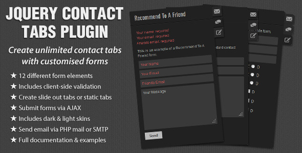 jQuery Contact Tabs