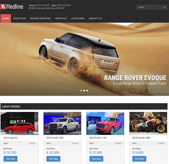 redline-car-dealership-wordpress-theme