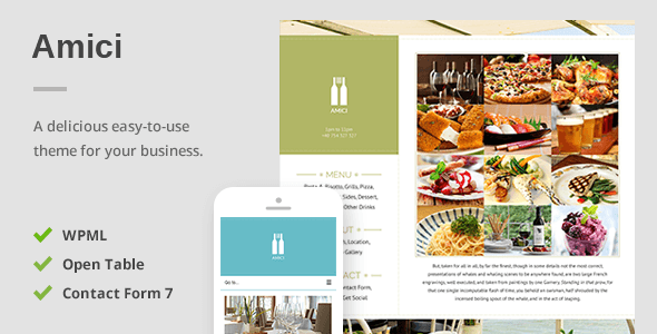 Amici - A Delicious Responsive Restaurant & Cafe Theme