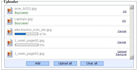 ApPHP AJAX File Uploader