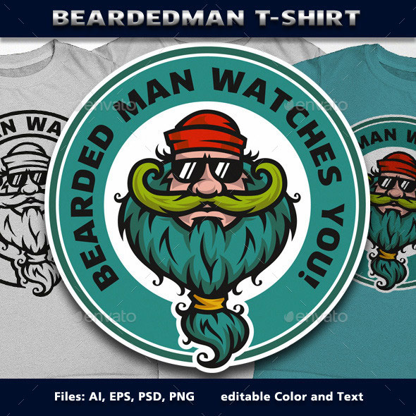 BeardedMan-T-Shirt
