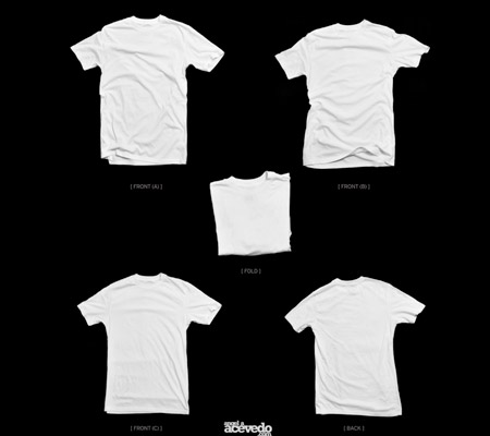 Blank T-Shirt Template – White