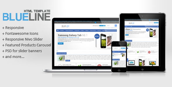 Blueline - Responsive Ecommerce Template
