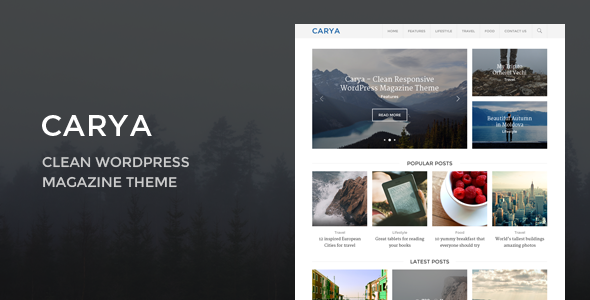 Carya - Clean WordPress Magazine Theme