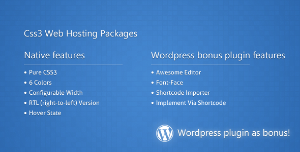 Css3 Web Hosting Packages
