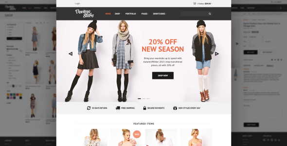 30+ Best eCommerce Responsive HTML Templates 2016