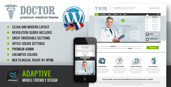 Doctor-Universal Medical WordPress Theme