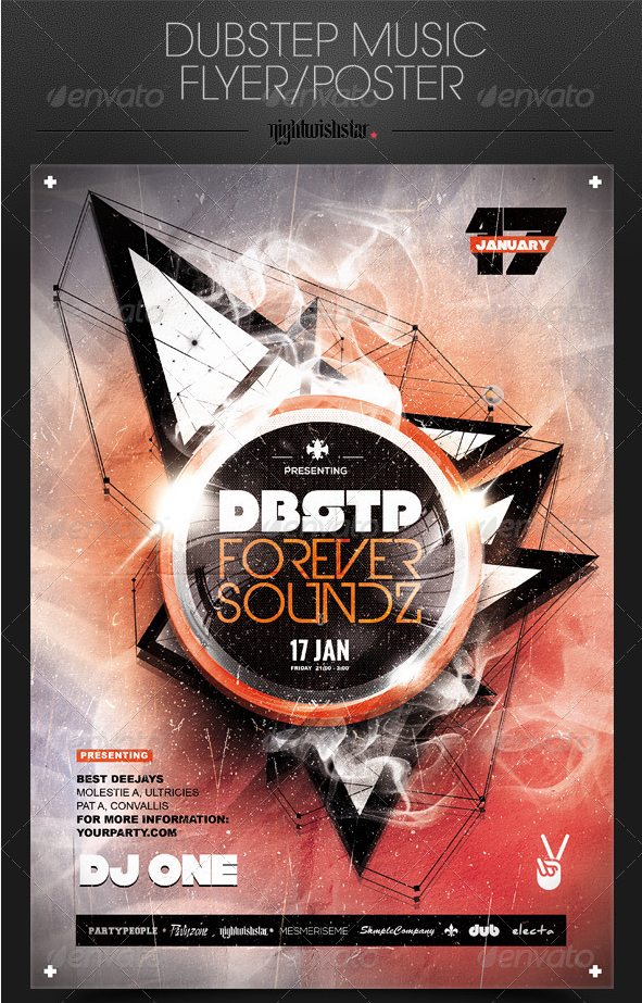 Dubstep Music Party Poster-Flyer