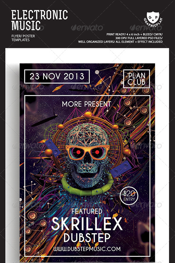 Electronic Music Flyer-Poster