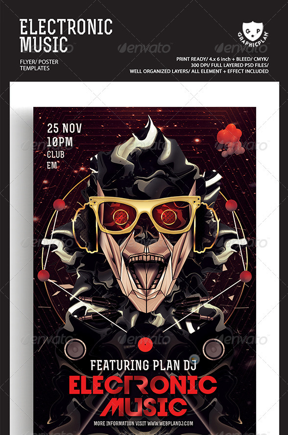 Electronic Music Flyer Poster