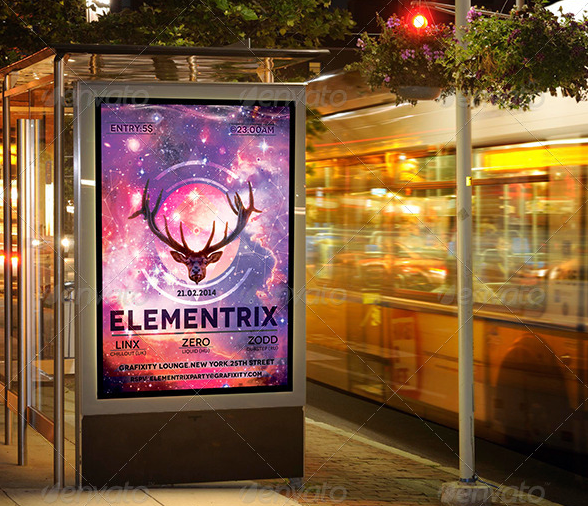 Electronic Music Poster- Flyer