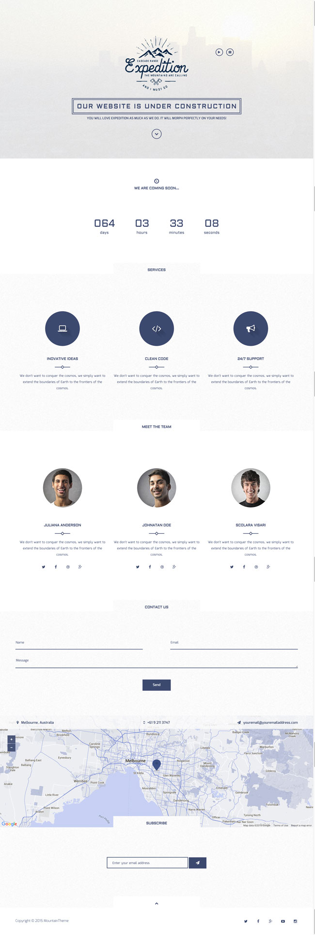 Expedition-Responsive-Coming-Soon-Template