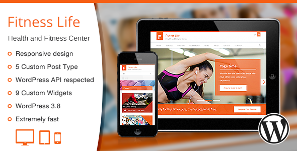 Fitness Life - Gym-Fitness WordPress Theme
