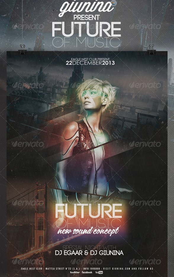 Future of Music Flyer Poster