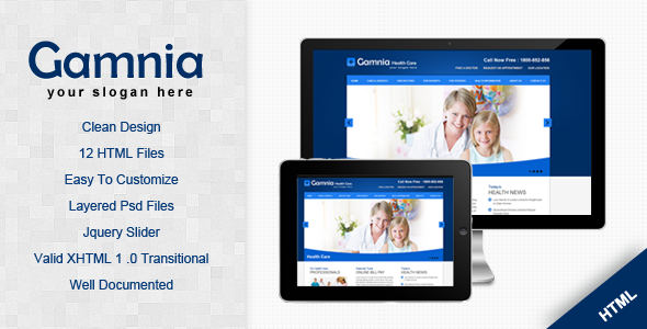 Gamnia Health Care Template
