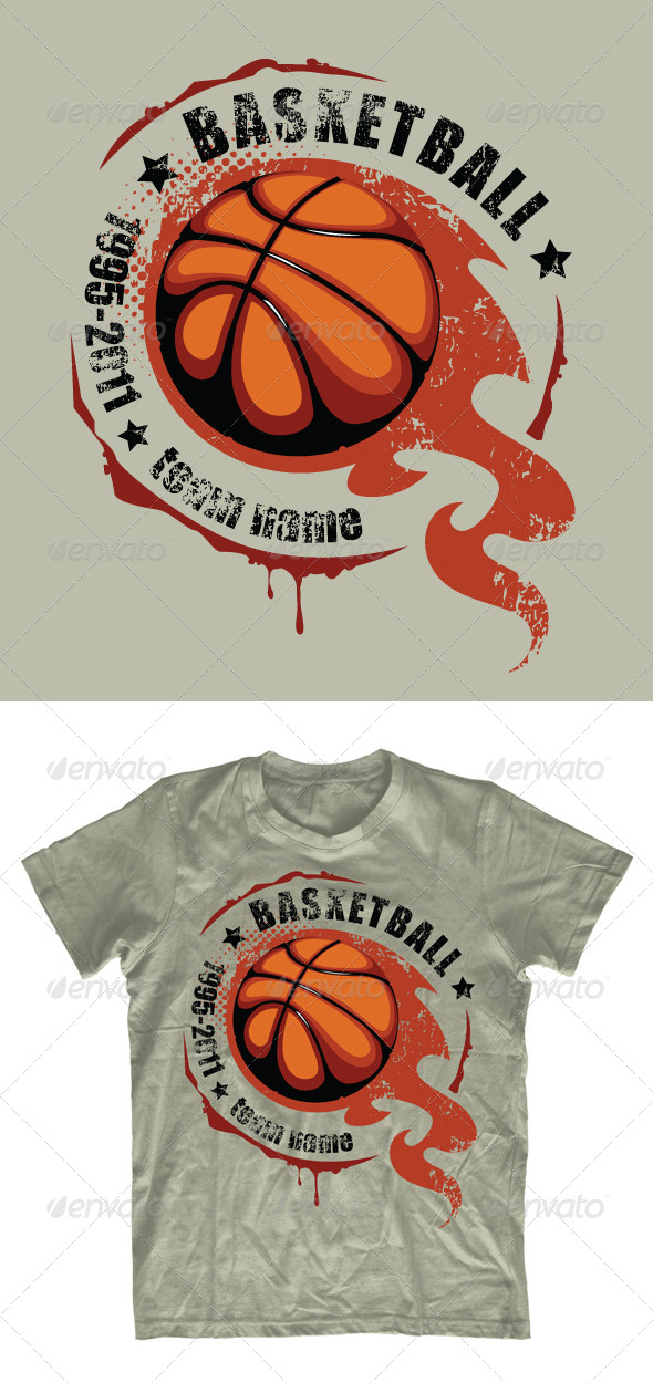25 beautiful free and premium t shirt template designs for Design your own basketball t shirt