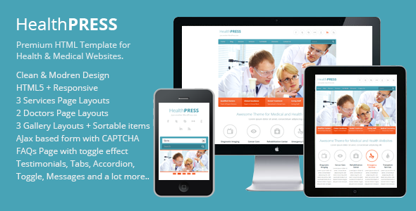 HealthPress - Health and Medical HTML Templat