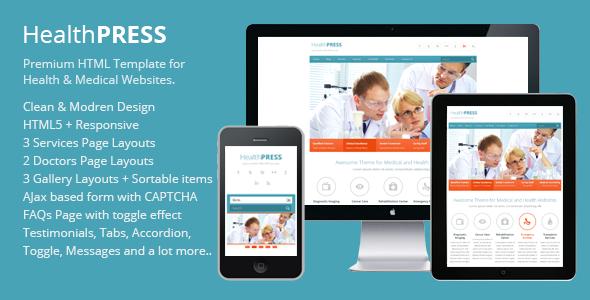 HealthPress - Health and Medical HTML Templat