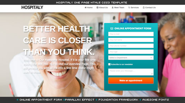 Hospitaly – Medical HTML5 Template