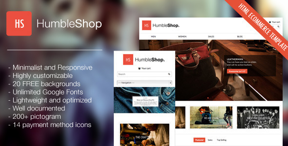 HumbleShop - Minimal Responsive eCommerce Template