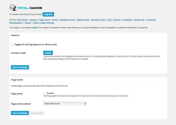 Install a Cache Plugin