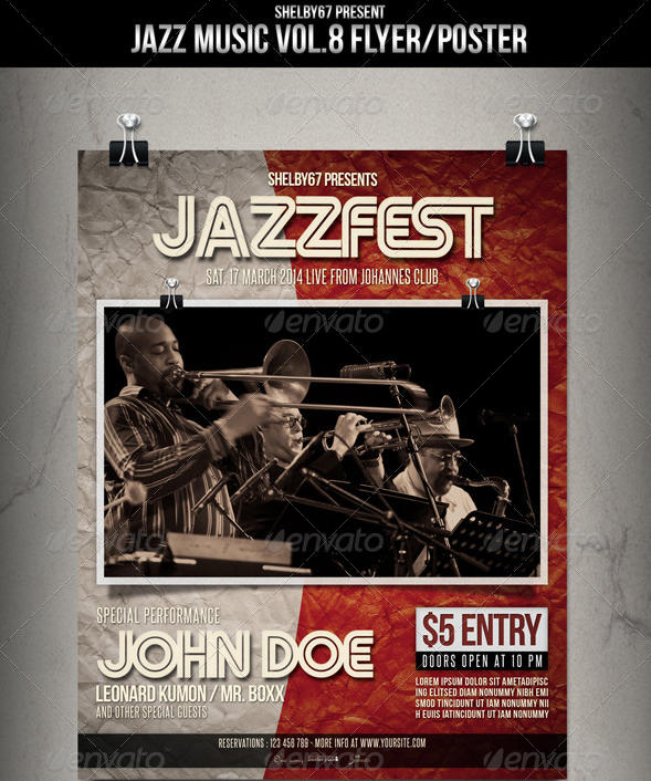 Jazz Music Flyer - Poster Vol-8