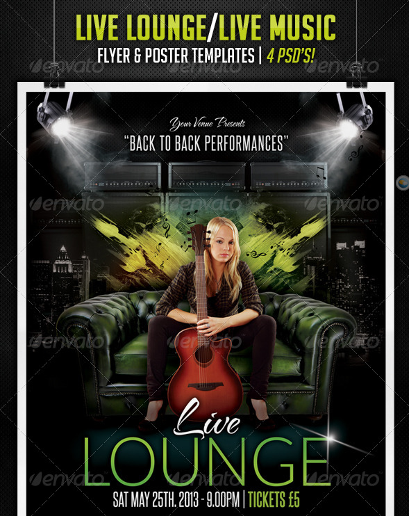 Live Lounge - Live Music Posters & Flyers