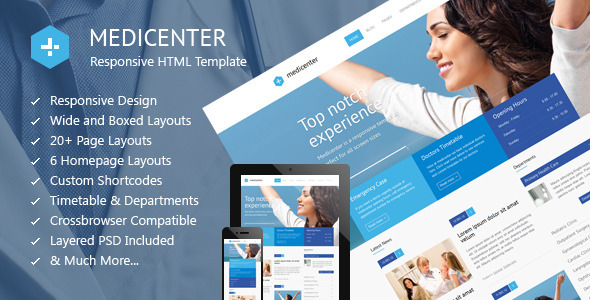 MediCenter - Responsive Medical Health Template