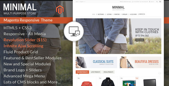 Minimal Multi Purpose - Responsive Magento Theme