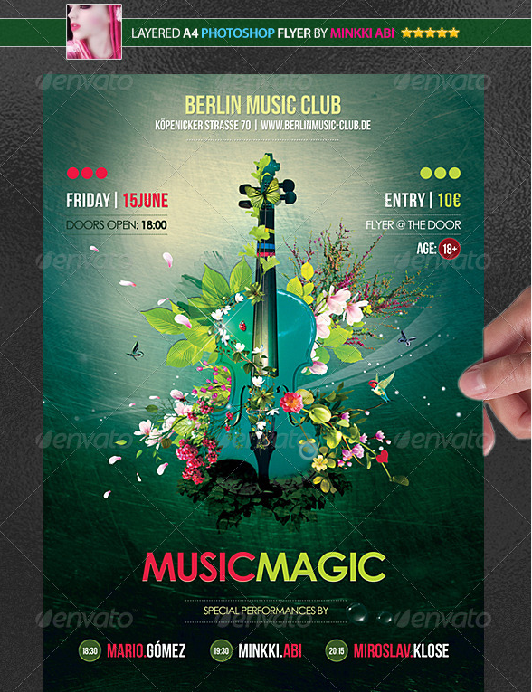 Music Magic Poster-Flyer