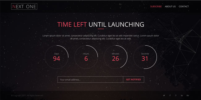 Next-One-Coming-Soon-HTML5-Template