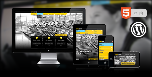 Olimpia-Fullscreen WordPress Fitness Center