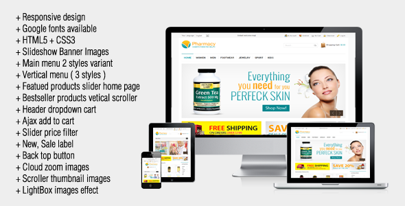 Pharmacy - Responsive Magento Theme