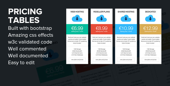 Pricing Tables - Fully Responsive and Bootstrap