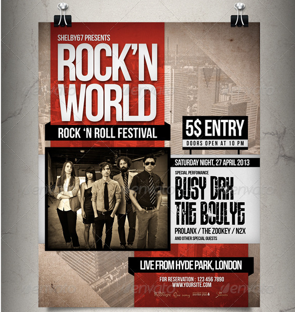 Print Templates - Rock Music Flyer - Poster