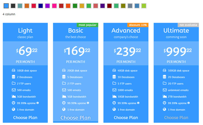 35 best html css3 responsive pricing table templates for Html table css template