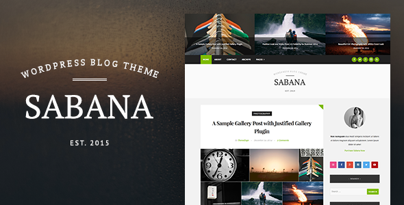 Sabana - Clean & Elegant WordPress Blog Theme