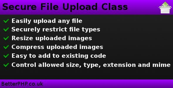 Secure File Upload Class