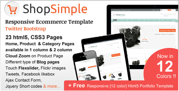 ShopSimple - Responsive Ecommerce Template
