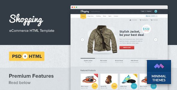 Shopping eCommerce HTML Template