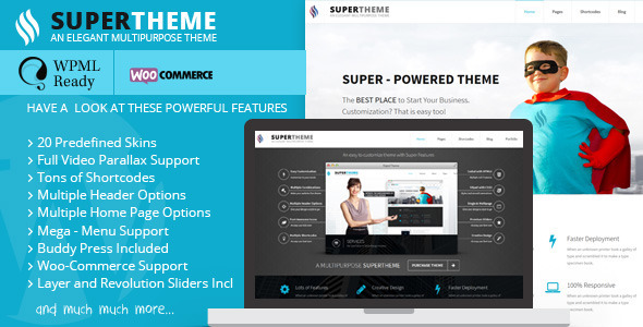 Super - Flat Multi-Purpose Theme
