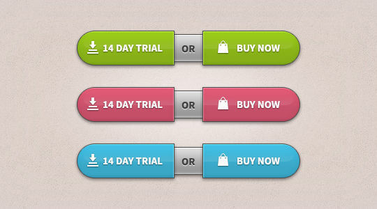 Trial-Buy Buttons (PSD)