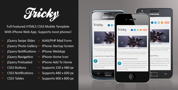 Tricky Mobile-HTML5 & CSS3 And iWebApp