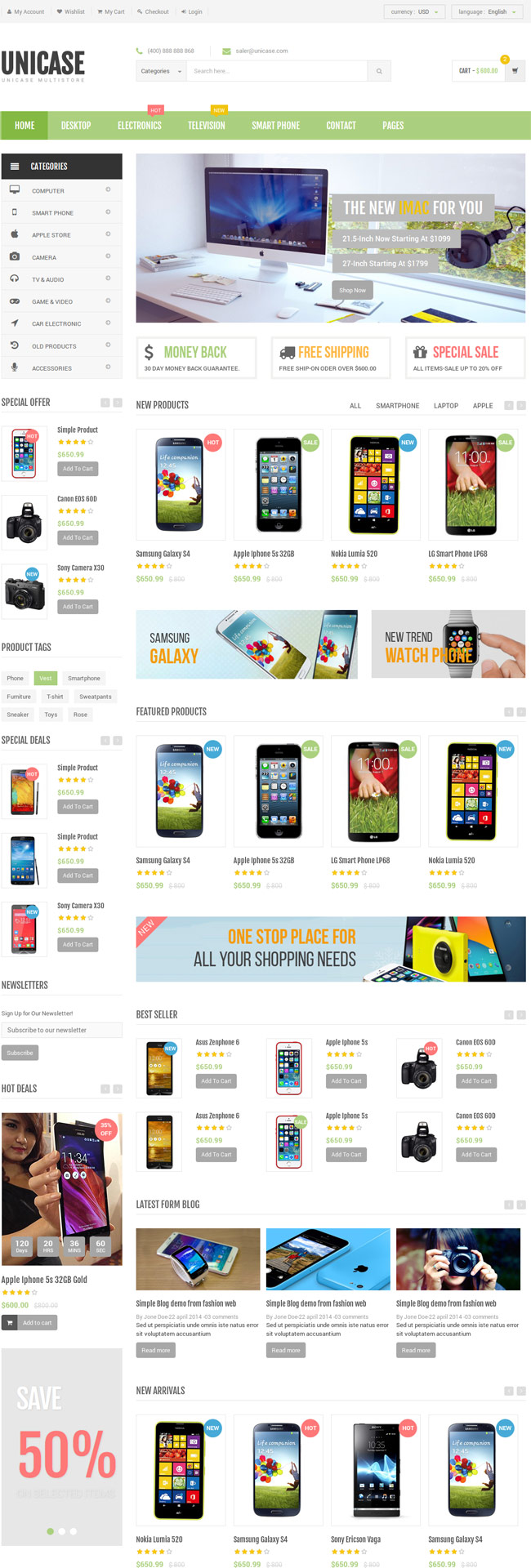 Unicase-Electronics-eCommerce-HTML-Template