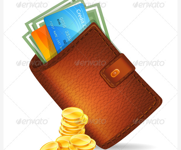 Wallet with Banknotes