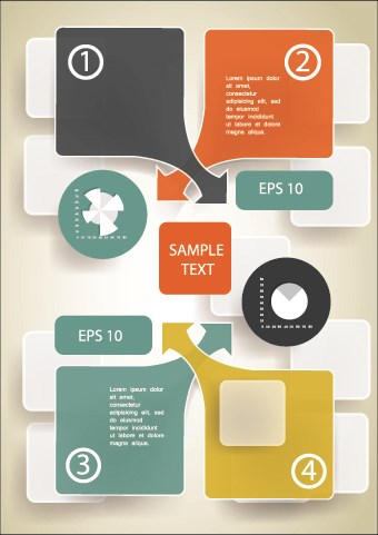 business infographic creative design 793 vector