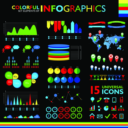 Best 65 Free Infographic Vector Templates  DesignMaz